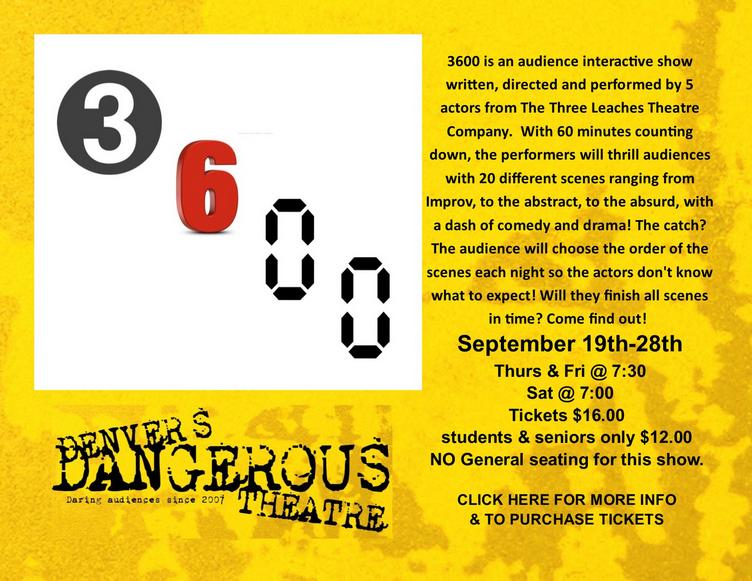 3600 at Dangerous Theatre tickets