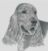 Cross Stitch Chart of a Cocker Spaniel original artwork by Nick Clark