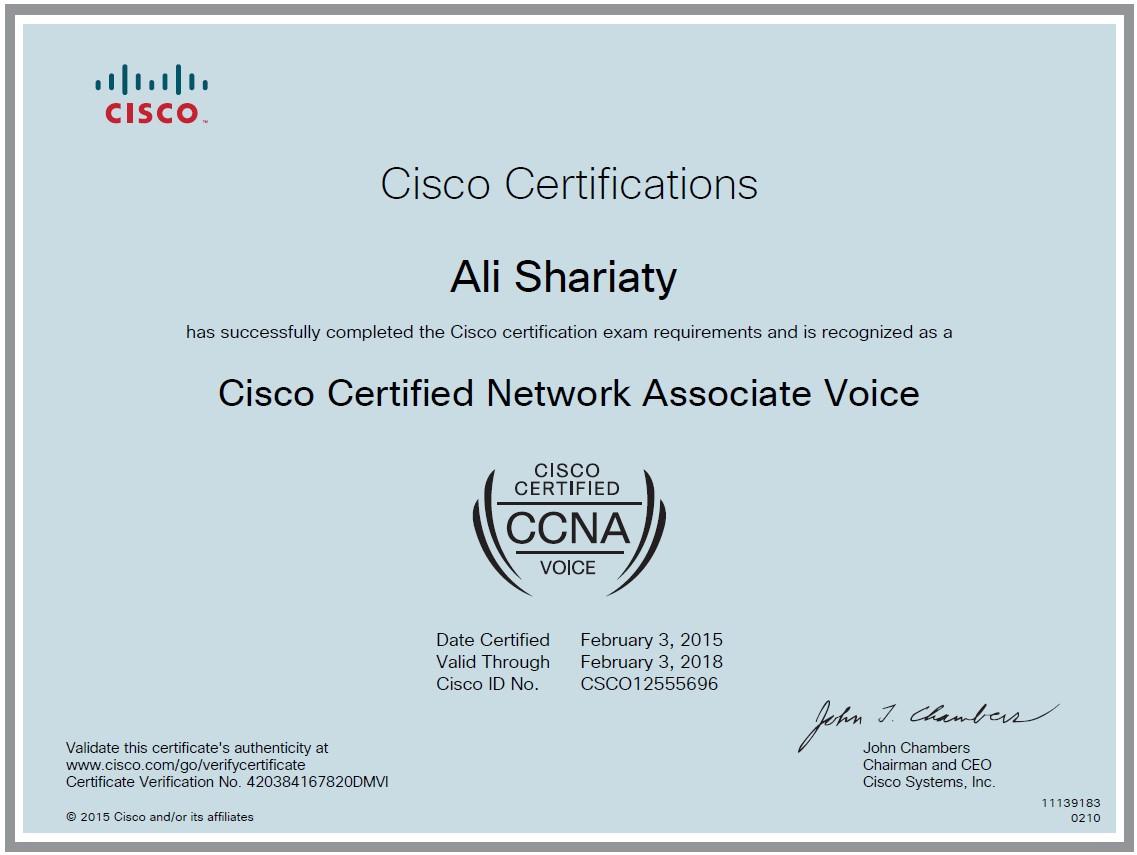 Cisco Certified Network Engineer Certification Gallery Creative