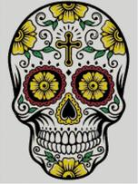 Cross Stitch Chart of Sugar Skull No 08