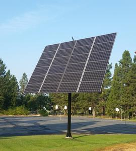 McCloud California Solar Tracking Installation
