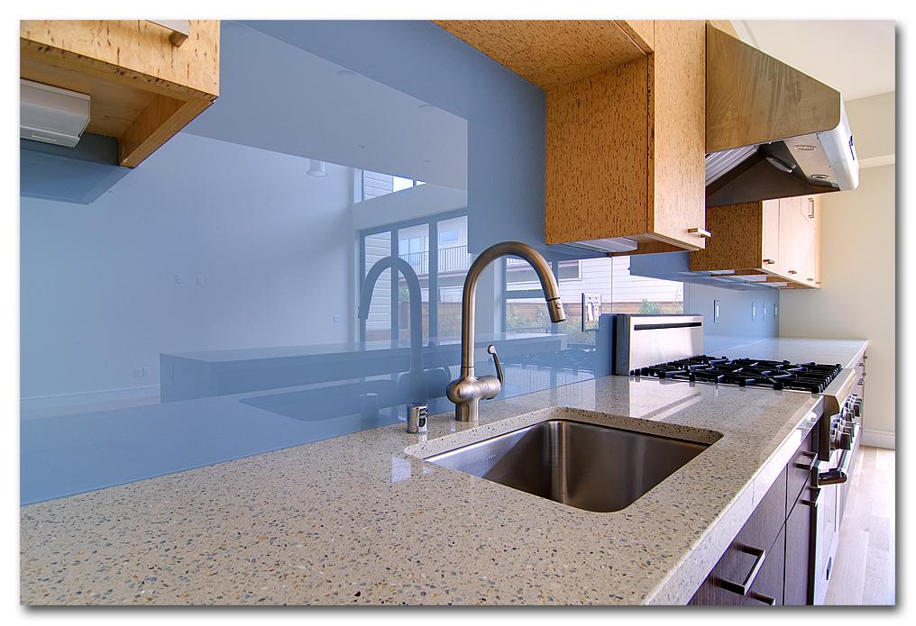 back painted glass backsplash toronto - backsplashes