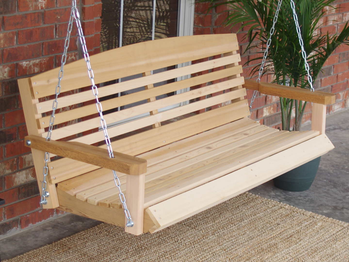 Swell American Style Cedar Porch Swing Gmtry Best Dining Table And Chair Ideas Images Gmtryco