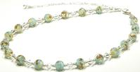 "Murano Glass ""Marmo"" Marble Necklace"