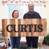 custom family sign | GPCurtis