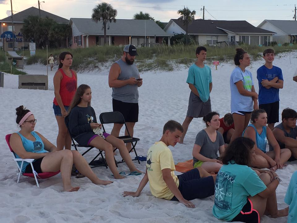 Youth Wednesday Worship Beach Trip