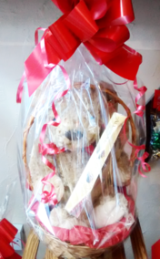 Hamper with Teddy Bear and Box of Terry's All Gold Milk Chocolate | The Little Flower Shop | London Florist