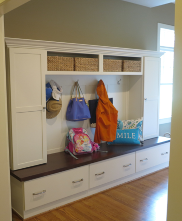 Organization for coats, jackets, shoes and bookbags