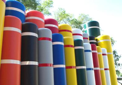 Bollard Covers available in a variety of colors