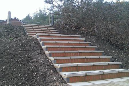 Steps at Gibraltar Barracks