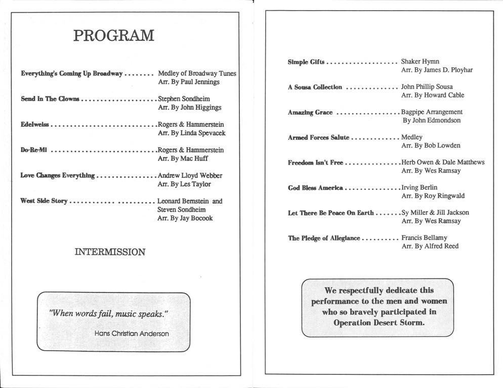 Concert Programs