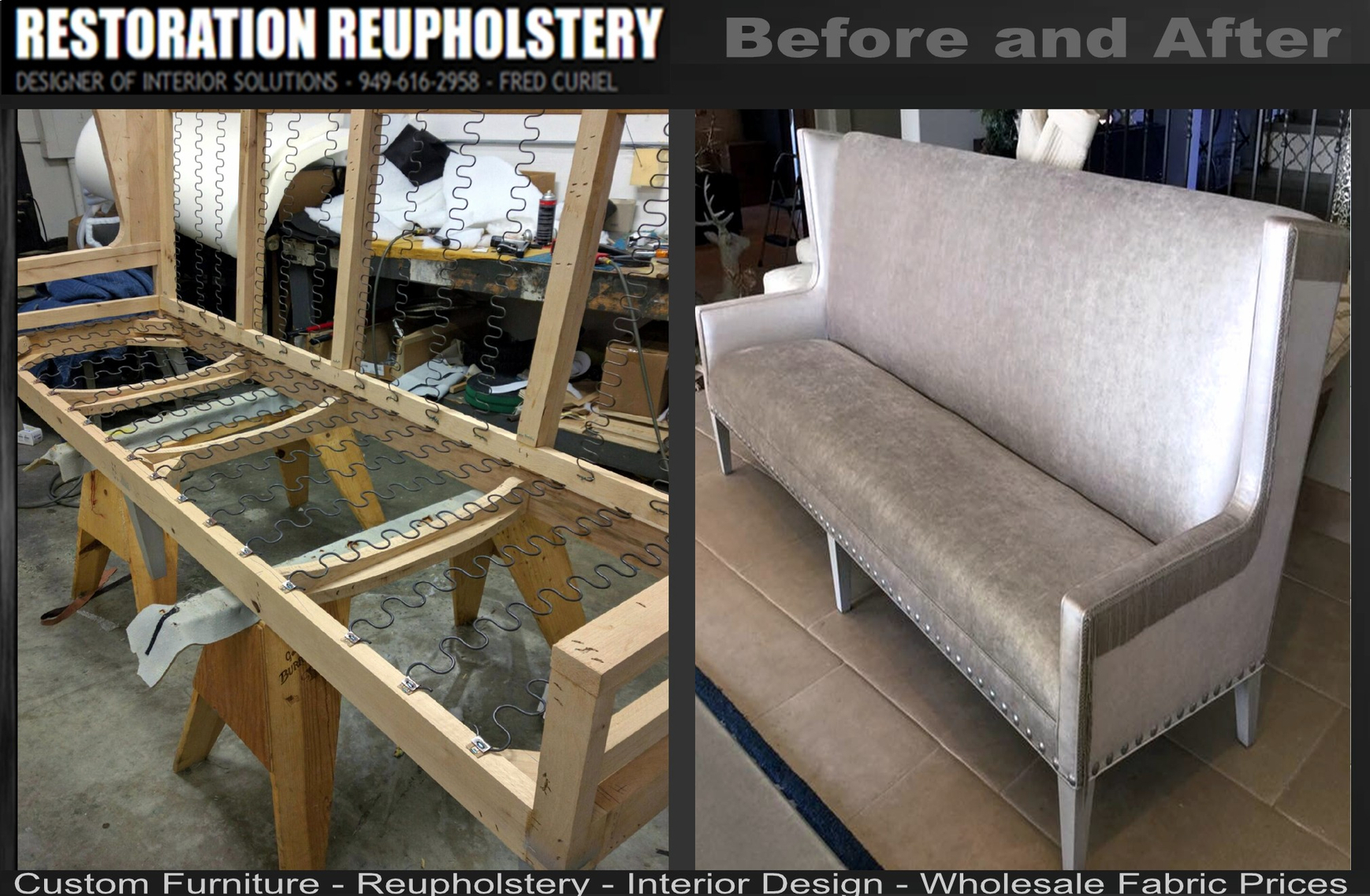 Restoration Reupholstery Custom Furniture Upholstery - Furniture upholstery san diego