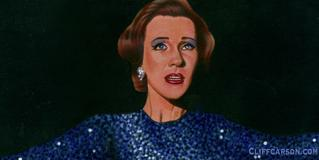 "JULIE ANDREWS ""STAR!"" acrylic on board by CLIFF CARSON"