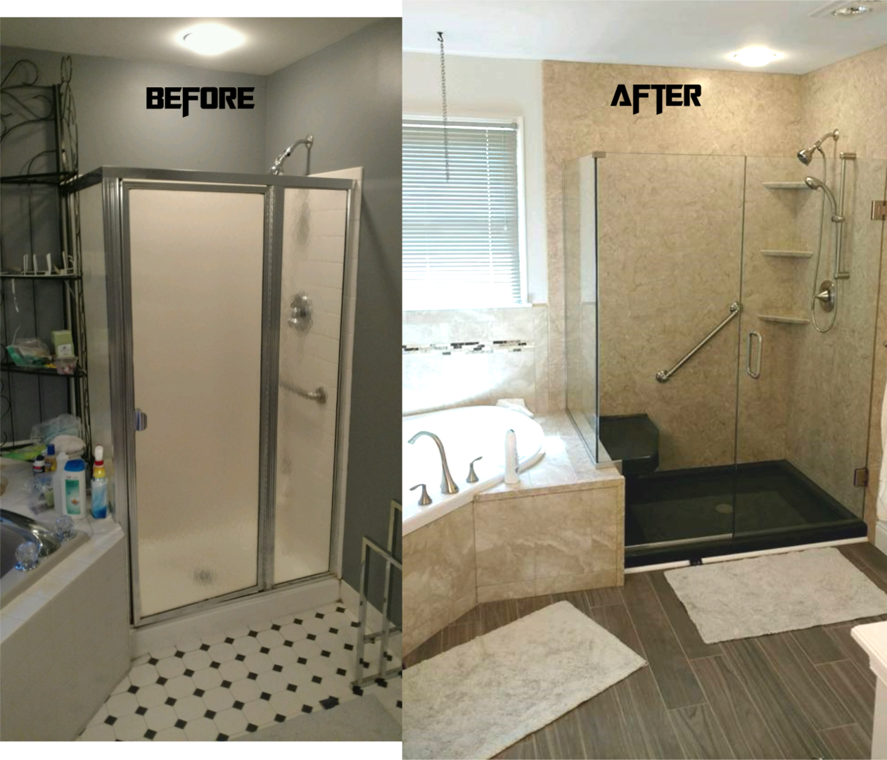 total bath transformations bathtub shower replacement we offer various upgrades including curved shower rods glass doors brushed nickel or oil rubbed bronze fixtures tile and more