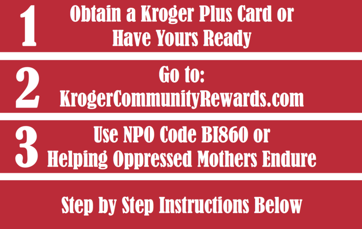 Do you shop at Kroger? You can now give a percentage of what you spend on groceries directly to HOME when you use your Kroger Plus Card. No cost to you.