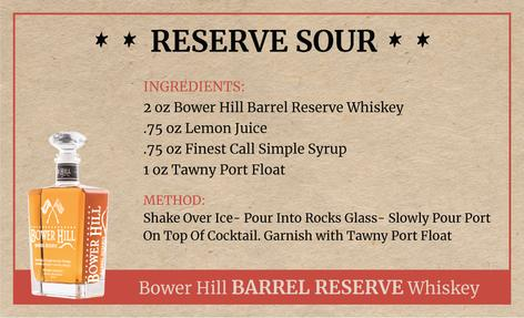 Reserve Sour, Bower Hill Barrel Reserve Whiskey Recipe