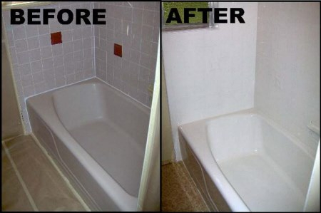 $199 Bathtub and tile refinishing reglazing resurfacing