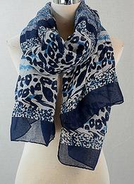 Zebra And Animal Mix Print Scarf viscose