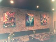 Music Inspired Paintings at Ed's, Downtown Goldsboro resturant