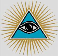 Cross Stitch Chart Pattern of Freemasons Eye of Providence