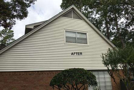 exterior house washing siding in Spring Texas after