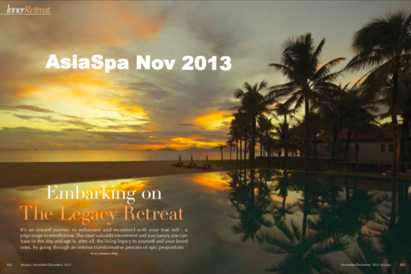 AsiaSpa Nov 2013 Embarking on the Legacy Retreat