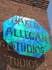 Baker Allegan Studios, Art Gallery, Antiques, Weaving, Spinning and Yarn Shop. New and Used Weaving Looms.