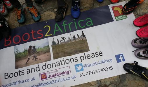 160 Boots2Africa donated