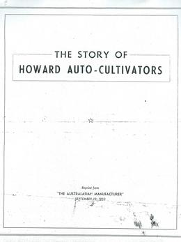 The Story of Howard Auto-Cultivators