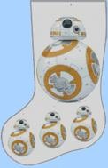 Christmas Stocking Chart Pattern of BB-8