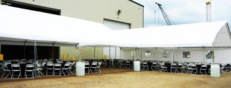 COMPANY EVENT TENT SET-UP