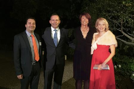 Jean Claude and Kate Branch with the Prime Minister of Australia and his wife