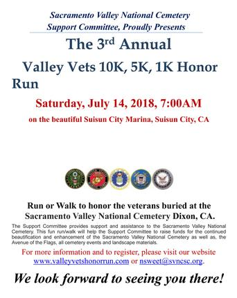 3rd Annual Valley Vets Honor Run