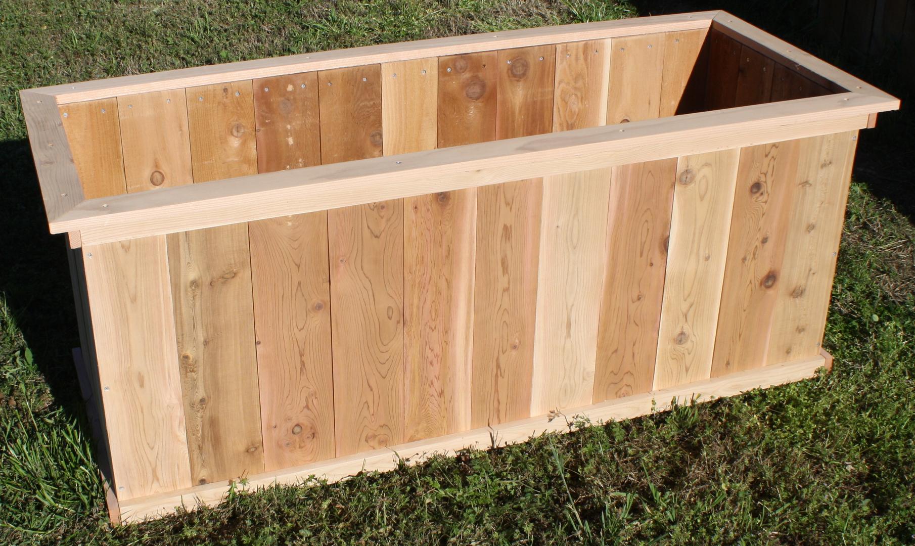 14 Inch Tall Cedar Planter Boxes