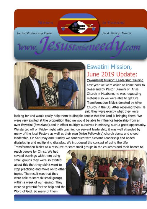 Download full PDF of Mission to Swaziland