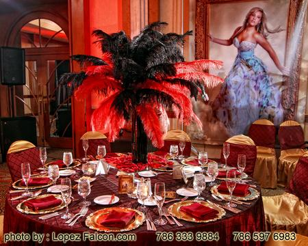 Moulin Rouge Quinceanera centerpieces Decoration Stage