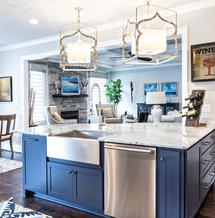 Custom Kitchen Island with Granite Top