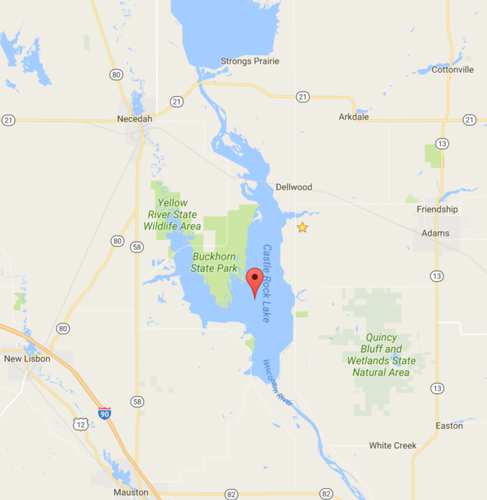 Map of Lake Castle Rock Lake Map on