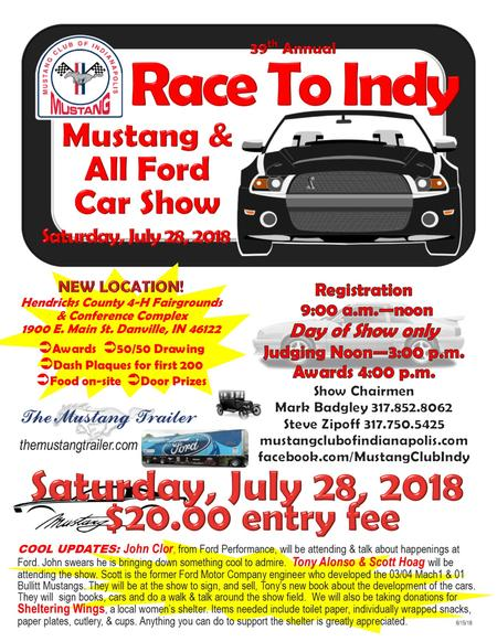 mustang club of indianapolis car show 2018