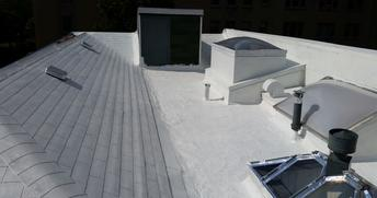 A roof with our residential roofing system installed