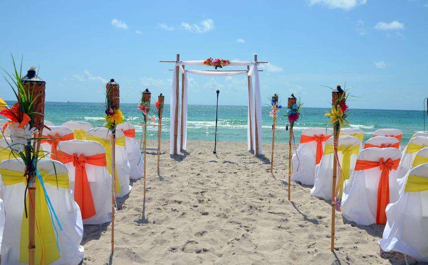 Decorated Beach Wedding in Florida