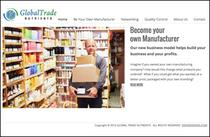 Gobal trade nutrients partners web design
