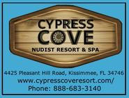 Cypress Cove Nudist Resort & Spa, nudism, naturist, naturism, Treasure Coast Naturists, Blind Creek Beach, Friends of Blind Creek Beach, St. Lucie County, Ft. Pierce, Port St. Lucie, Jensen Beach, Hutchinson Island, nude beach, clothing optional beach