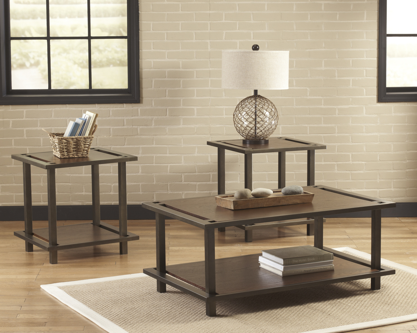 ASHLEY COFFEE TABLE END TABLE - Ashley center table
