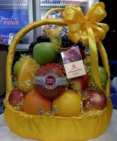 hoa quả nhập khẩu, giỏ hoa quả nhập khẩu đẹp tại Hà Nội
