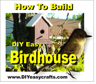 How to build a easy DIY Trex and PVC birdhouse. www.DIYeasycrafts.com