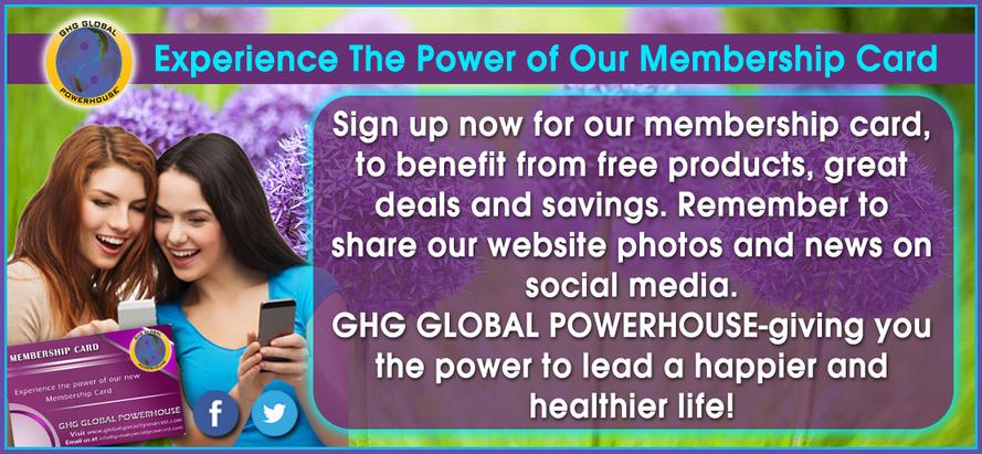 membership card of GHG GLOBAL POWERHOUSE