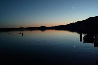 lake at night, night, lake, inspire, boat, moon