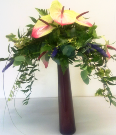 Anthurium table arranagement Flower Arrangements The Little Flowershop
