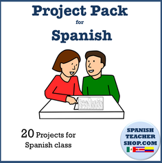 Project Pack of 20 Projects for Spanish Class Cover
